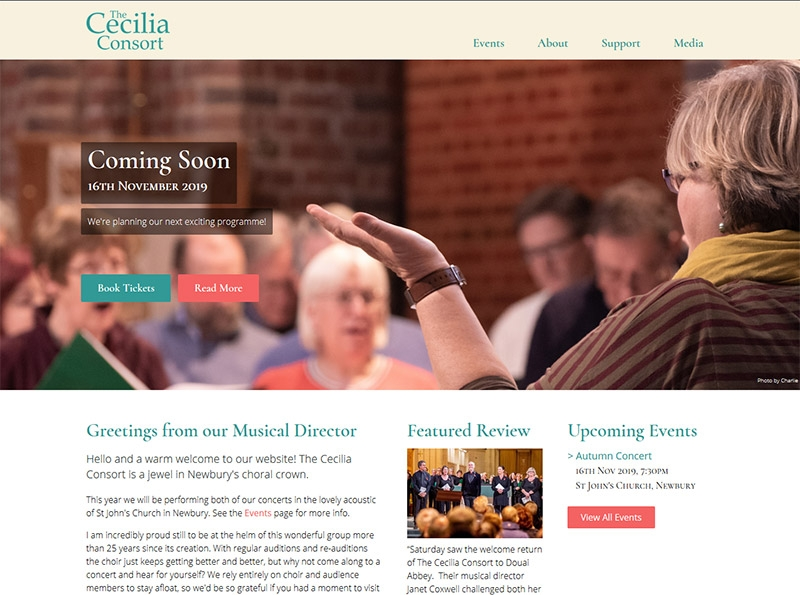 The Cecilia Concert Website