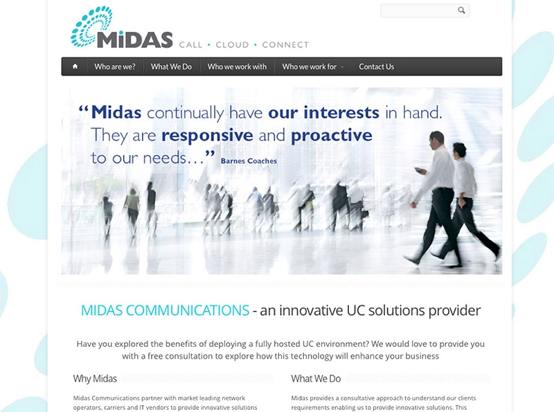 Midas Communications Website